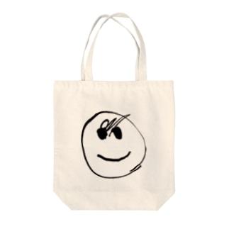 我が子が4回目に描いた顔 Tote bags