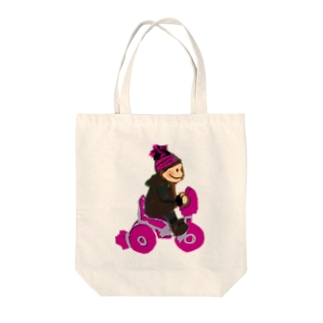 kid_on_tricycle トートバッグ