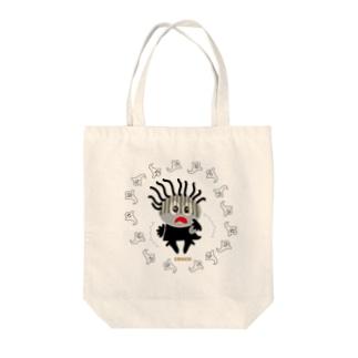 スプーキーお化けにビビリンチョのクレコちゃん Tote bags