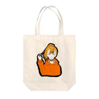 ポニテ Tote bags