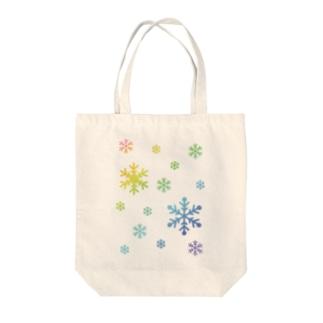 雪の結晶 Tote bags