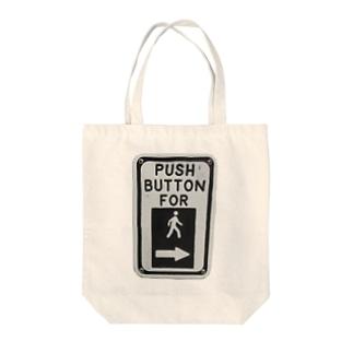 プッシュボタンだっちゃ Tote bags