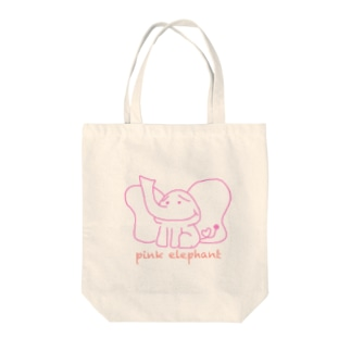 pink elephant トートバッグ