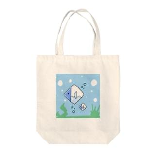 ◆だしのや◆の「ゆるい妖怪」めぐすりフィッシュ Tote bags