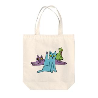 ギャーっとなくネコ Tote bags