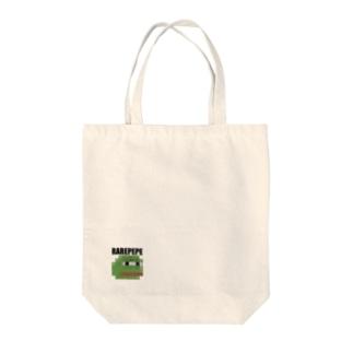 RAREPEPEのTシャツ(ドット) Tote bags