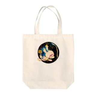 ムーーーン Tote bags