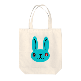 ameyoのウサギ blue Tote bags
