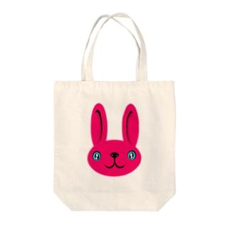 ウサギ pink Tote bags