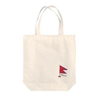 NEPAL FLAG Tote bags