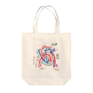 胎児の血液循環 Tote bags