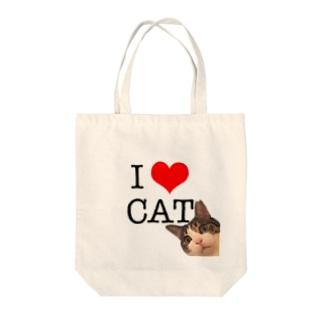 I♡CAT Tote bags