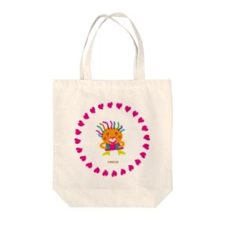 笑いすぎてお腹が痛いクレコちゃん Tote bags