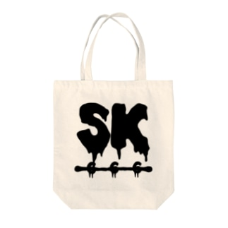 SK Strikethrough(666) Clothing - First Line White Tote bags