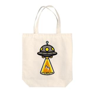 UFO★キャトルミューティレーション Tote bags