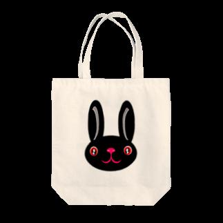 ameyoのウサギ black Tote bags