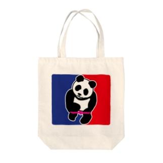 パンダトルネードパンティ脱ぎ ワイドサイズ Tote bags