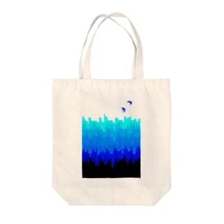 さかさまの町 Tote bags