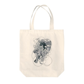 Scull-circles Tote bags