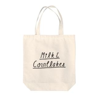 milk&cornflakes Tote bags
