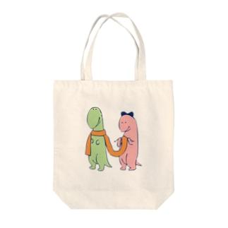 なかよしかいじゅう Tote bags