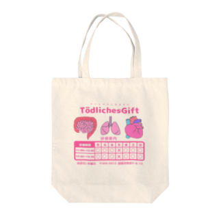 Tödliches Giftのてーとり診療案内 Tote bags