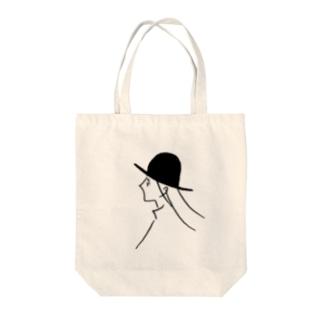 風と帽子のつくしちゃん Tote bags