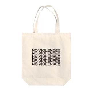 NO VIOLENCE!!! Tote bags