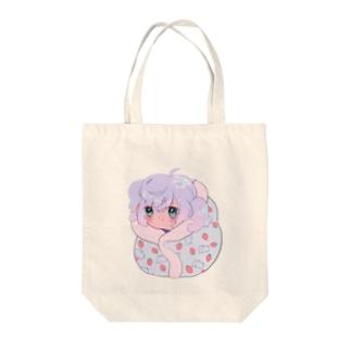 ひえぴた Tote bags