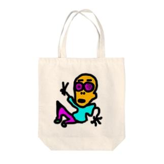 松屋の店員。 Tote bags