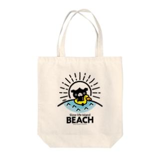 はちエンピツのocton Slow life Island BEACH #basic Tote bags