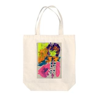カロロファッション画1 Tote bags
