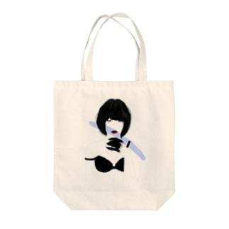 Devil Girl Tote bags