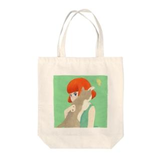 NMの猫と赤毛の子 Tote bags