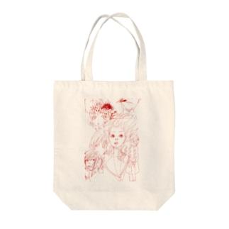 かぜにふかれ女子 Tote bags
