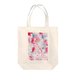 pale pink Tote bags