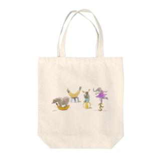 バナナサーカス団 Tote bags