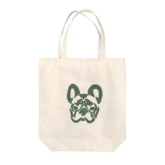 フレンチブルドッグ_khaki Tote bags