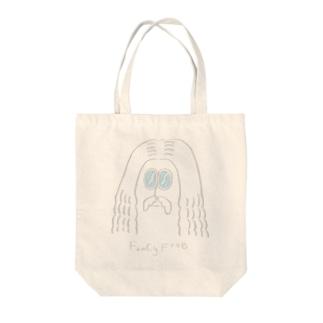 Fancy Freeおじさん:ブルー Tote bags