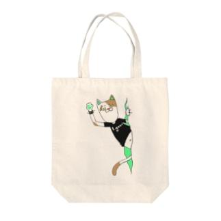 パンクキャット【アイガス】 Tote bags