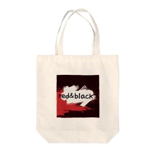 red&black Tote bags