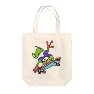 ぽっちゃりかえるライダー Tote bags