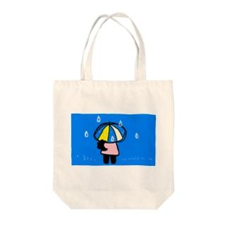 雨の日のクローネちゃん Tote bags