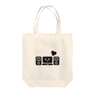 DTM音楽制作(黒) Tote bags