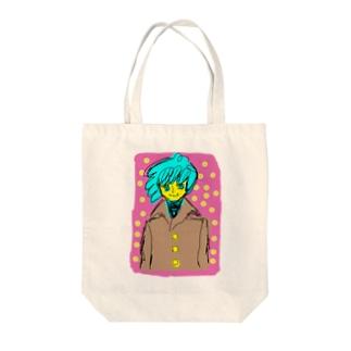 カロロファッション画コート Tote bags