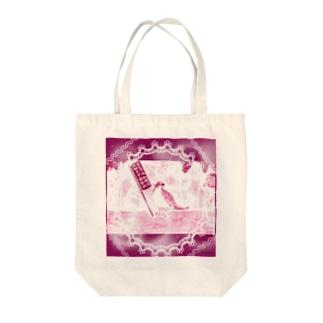 キリッと酉干支天使(バッタン) Tote bags