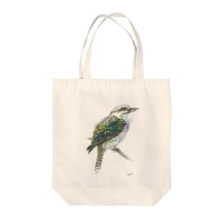ワライカワセミちゃん Tote bags