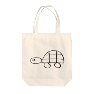 かめさん Tote bags