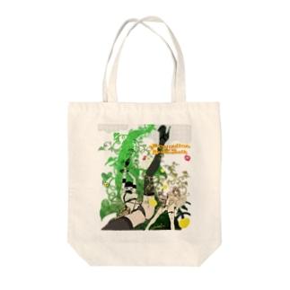 ジャクリーヌちゃんと豆蔓 Tote bags