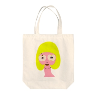 apple lady Tote bags